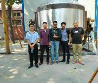 Indian Metal Powder Mixer Customer Visit JINHE Factory