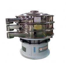 Ultrasonic vibrating sieve with mesh screen