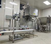 JHRB2000 full SS304 ribbon horizontal powder mixer ship to Italia